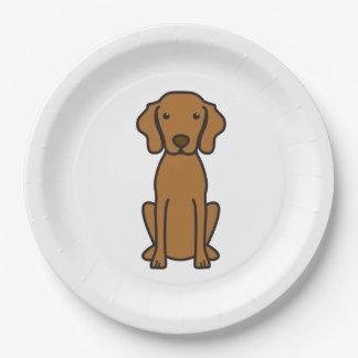 Vizsla Dog Cartoon Paper Plate