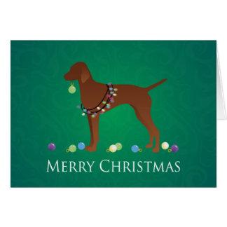 Vizsla Dog Merry Christmas Design Card