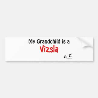 Vizsla Grandchild Bumper Sticker