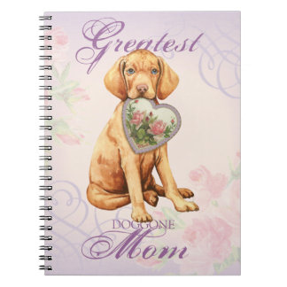 Vizsla Heart Mom Notebook