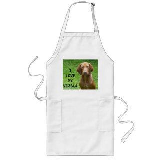 vizsla love w pic long apron