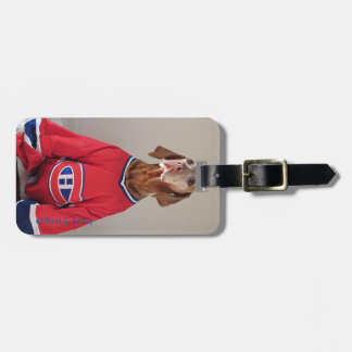 Vizsla Montreal Canadians Luggage Tag