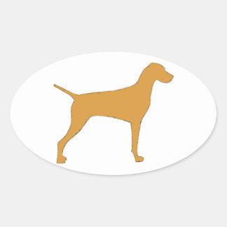 Vizsla Oval Sticker