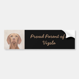 Vizsla Painting - Cute Original Dog Art Bumper Sticker