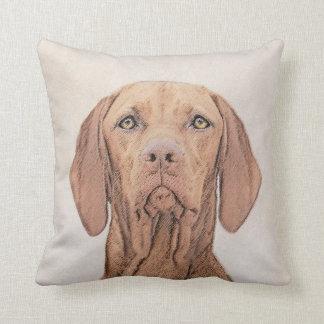 Vizsla Painting - Cute Original Dog Art Cushion