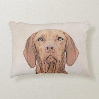 Vizsla Painting - Cute Original Dog Art Decorative Cushion