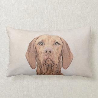 Vizsla Painting - Cute Original Dog Art Lumbar Cushion