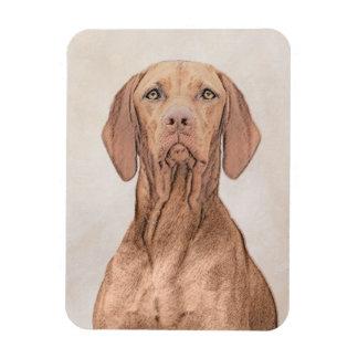 Vizsla Painting - Cute Original Dog Art Magnet