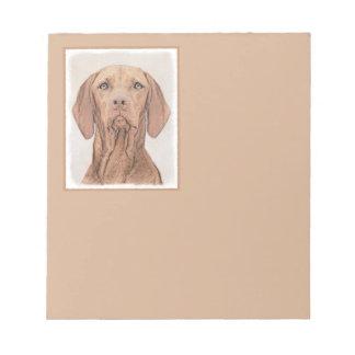 Vizsla Painting - Cute Original Dog Art Notepad