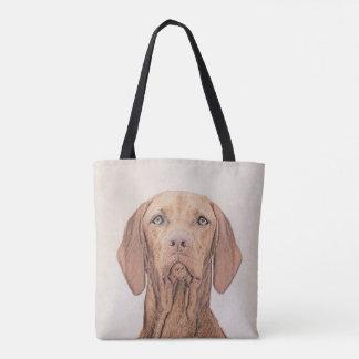 Vizsla Painting - Cute Original Dog Art Tote Bag