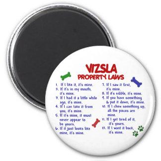 VIZSLA Property Laws 2 6 Cm Round Magnet