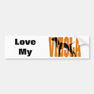Vizsla Silhouette, Show Stack Bumper Sticker