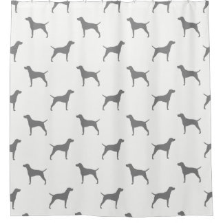 Vizsla Silhouettes Pattern Shower Curtain