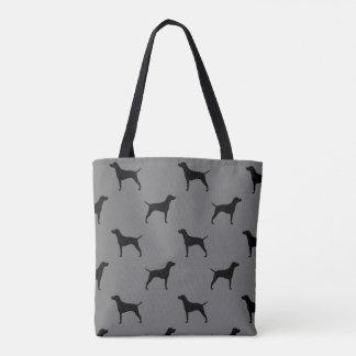 Vizsla Silhouettes Pattern Tote Bag