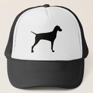 Vizsla silo black.png trucker hat