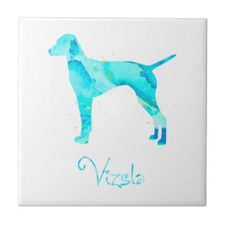 Vizsla Watercolor Design Ceramic Tile