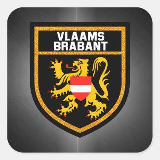 Vlaams-Brabant Flag Square Sticker
