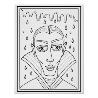 Vlad Dracula Cardstock Adult Coloring Page Poster