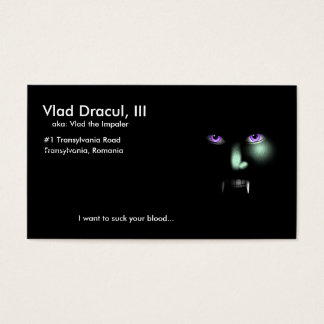 Vlad Dracul's business card