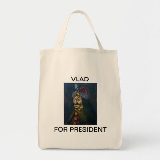 Vlad for President shopping tote. Tote Bag