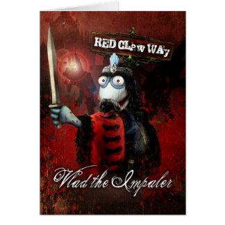 Vlad the Impaler Sock Puppet Card