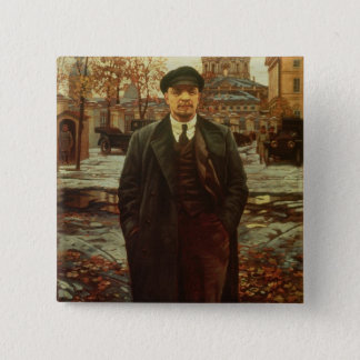 Vladimir Ilyich Lenin  at Smolny, c.1925 15 Cm Square Badge