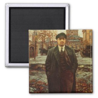 Vladimir Ilyich Lenin  at Smolny, c.1925 Square Magnet