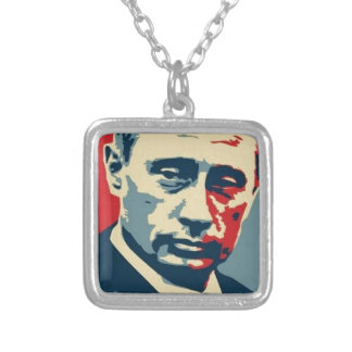 Vladimir Putin (Владимир Путин) Silver Plated Necklace