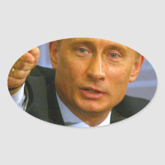 Vladimir Putin wants to give that man a cookie! Oval Sticker