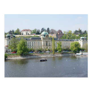 Vltava river postcard