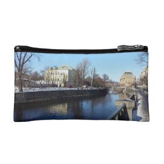 Vltava Riverbank in Prague Cosmetic Bag