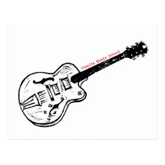 VMS Electric Guitar Postcard