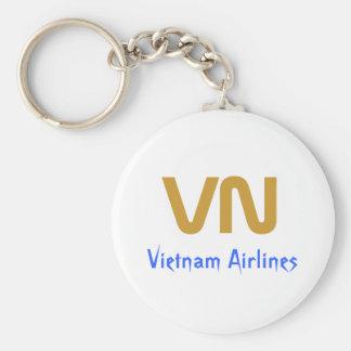 VN, Vietnam Airlines Basic Round Button Key Ring