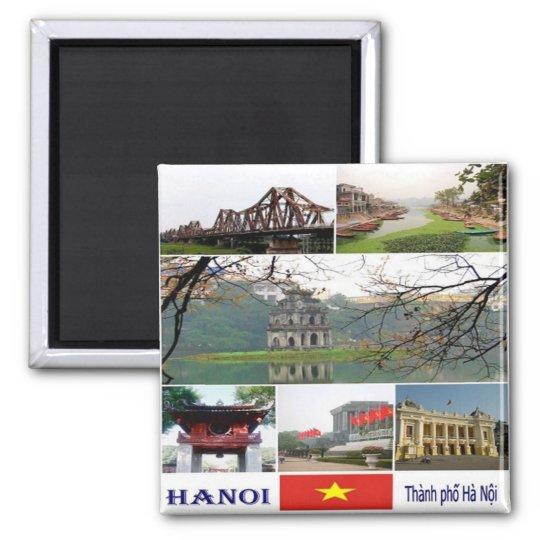 VN - Vietnam - Hanoi - Mosaic - Collage Magnet
