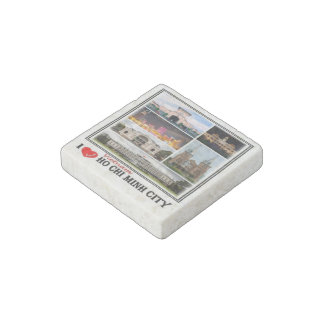 VN Vietnam - Ho Chi Minh City - I Love Mosaic - Stone Magnet