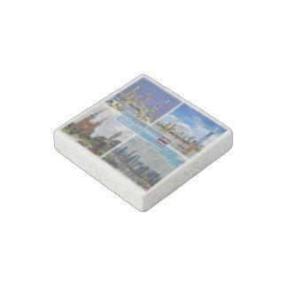 VN Vietnam - Ho Chi Minh City Saigon - City Centre Stone Magnet