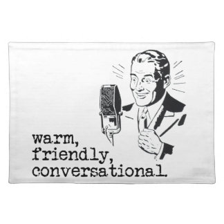 VO Copy Stand Mat: Warm, Friendly, Conversational Placemat
