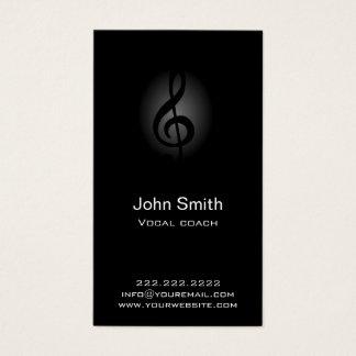 Vocal Coach Classy Dark Clef Music Business Card