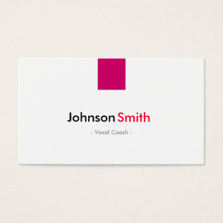 Vocal Coach - Simple Rose Pink Business Card