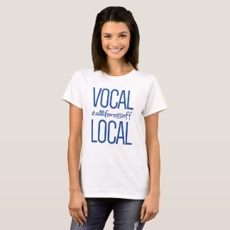 Vocal & Local #AllForOssoff - BLUE T-Shirt