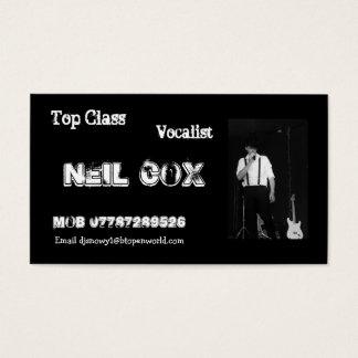 Vocalist Neil Cox Business Card
