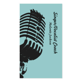 Vocalist Pack Of Standard Business Cards