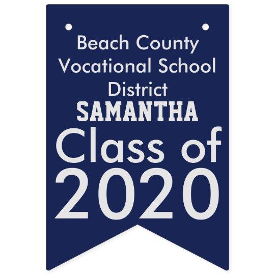 Vocational School Graduation Blue Bunting Banner
