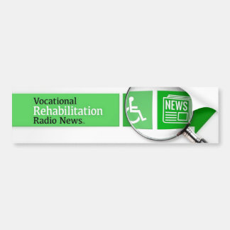 VocRehabRadio News Logo Sticker Bumper Sticker