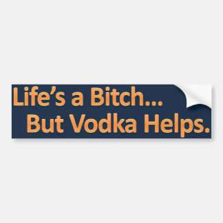 Vodka Helps Bumpersticker Bumper Sticker