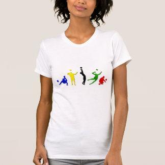 Voellyball players volleyball team Mintonette art T-Shirt