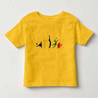Voellyball players volleyball team Mintonette art Toddler T-Shirt