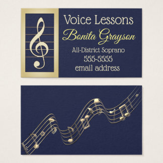 Voice Lessons Business Card