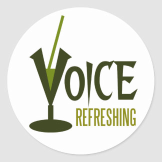 voice refreshing classic round sticker