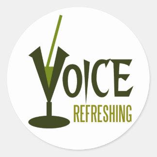 voice refreshing round sticker